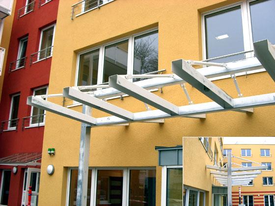 Überdachung, gefertigt von Metallbau Schäpers in Dorsten